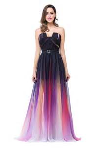 popular notched neck ombre purple bridesmaid dress a line