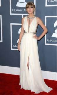 v neck long silver sequins white chiffon taylor swift