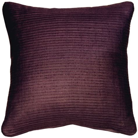 ribbed silk plum wine 17x17 throw pillow from pillow decor