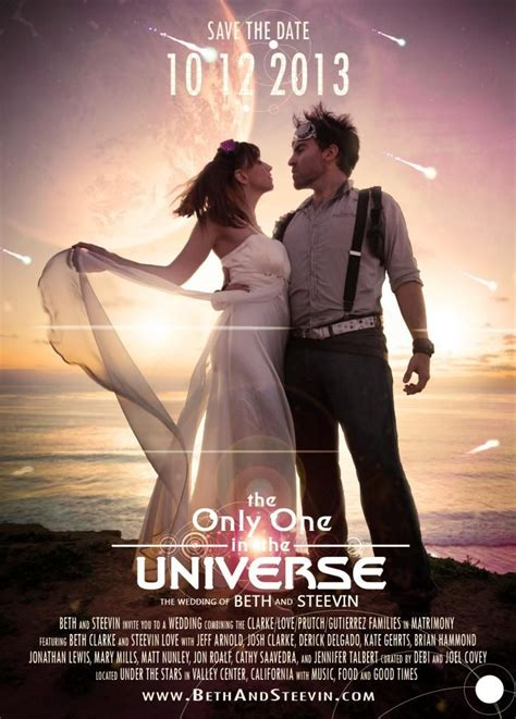 the wedding invitation trailer here is our epic sci fi adventure themed save the date