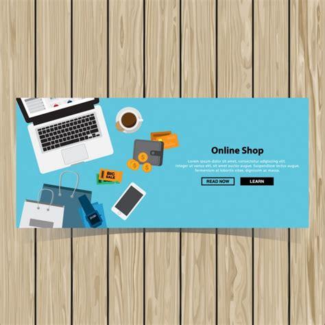design header online online shopping banner design vector free download