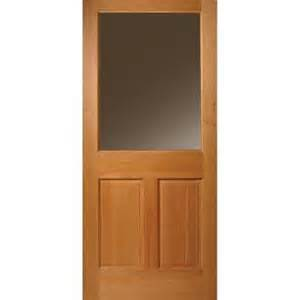 Half Lite Exterior Door Masonite 32 In X 80 In Half Lite 2 Panel Unfinished Fir Front Door Slab 45131 The Home Depot