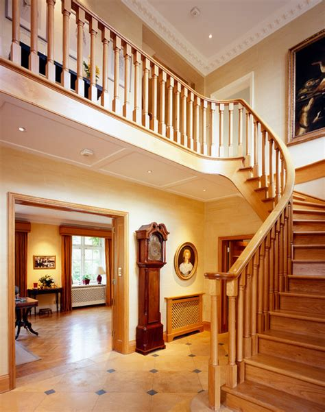 staircase design inside home front hall interior design wimbledon london