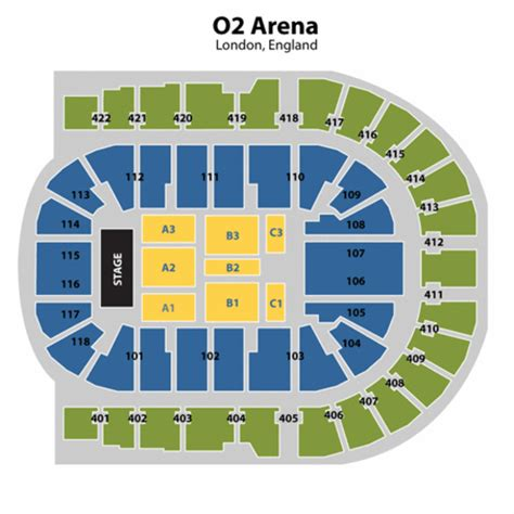 02 Arena Floor Plan o2 arena london seating chart o2 arena london tickets