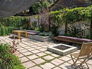 patio garden ideas paving stones