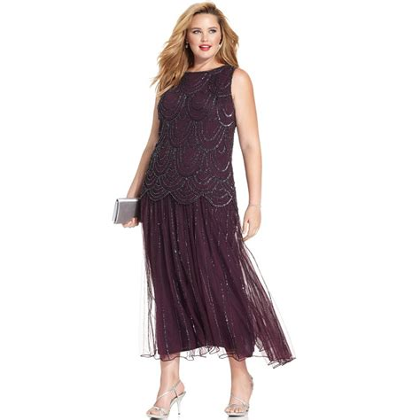 Hair For Cocktail Party - plus size drop waist dress dressed up