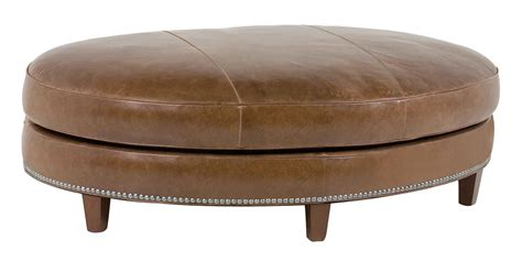 Large Oval Leather Coffee Table With Nails Club Furniture Living Room Ottoman Coffee Table