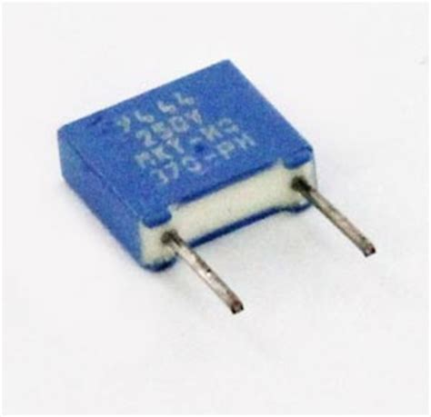 0 0039uf 250v metallized polyester box capacitor mkt370 philips west florida components