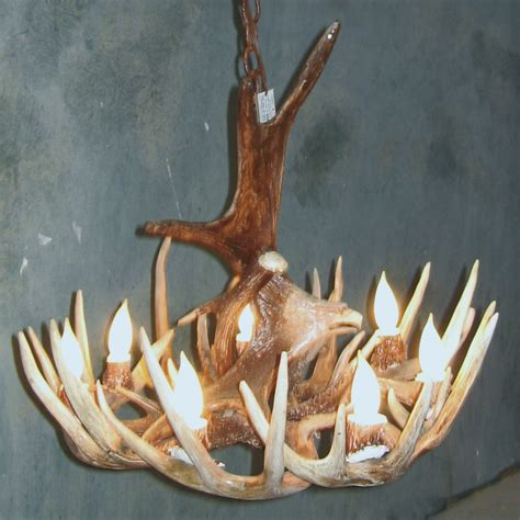 How To Make A Whitetail Deer Antler Chandelier Moose Eagel Whitetail Deer Antler Chandelier