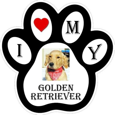 golden retriever paw print pawprint decals bumper stickers labels by miller concepts