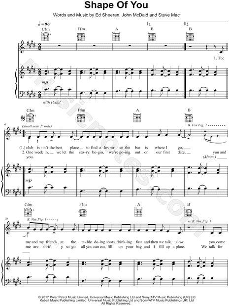 Shape Of You Ed Sheeran Flute Sheet Guitar Chords | Kotaksurat.co