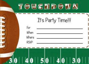 Free Football Party Printables From By Invitation Only Diy Catch My Party Football Invitation Template
