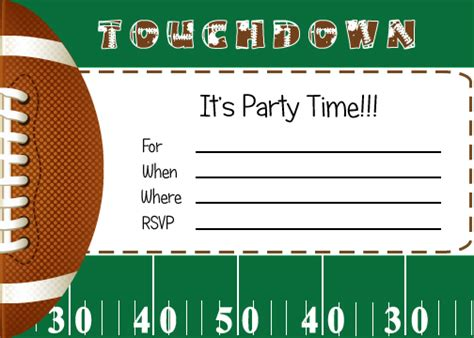 free printable football ticket invitation template free football party printables from by invitation only diy