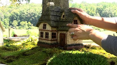 miniature gardening com cottages c 2 miniature gardening com cottages c 2 two story fairy garden cottage sku 53272 plow hearth