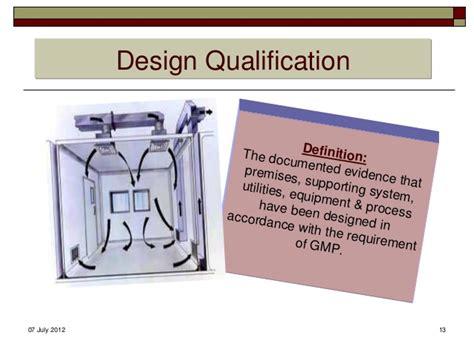 design qualification definition qualification validation concept terminology