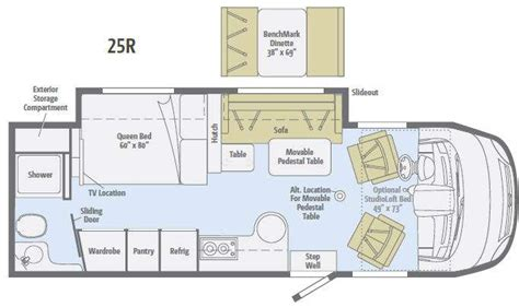 winnebago via floor plans used 2013 winnebago via 25r motor home class a diesel at