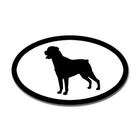rottweiler silhouette rottie silhouette oval decal stickers rottweilers and silhouette