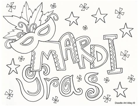 picture doodlin coloring pages pinterest mardi gras