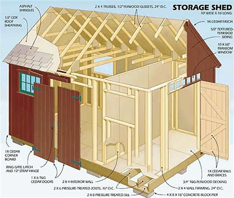 storage building plan diy woodworking your free