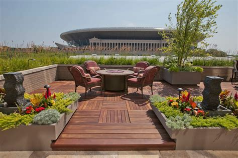 roof deck garden roof top gardens contemporary deck chicago by