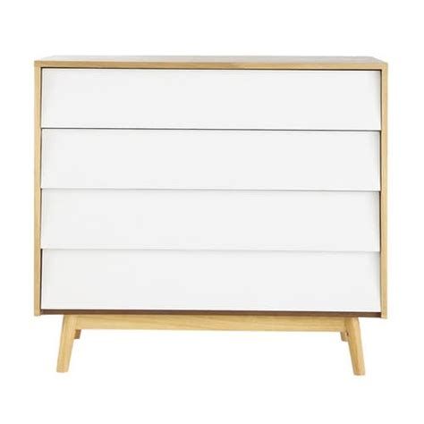 Vintage Wooden Chest Of Drawers by Wooden Vintage Chest Of Drawers W 90cm White Fjord