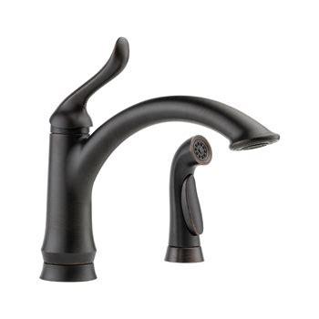 delta faucet 4453 ar dst linden single handle side sprayer kitchen faucets