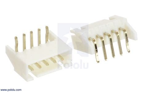 Connector Xh 254 2p Right Angle pololu 2 5 mm jst xh style shrouded connector 5 pin right angle extended 2 pack