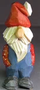 santa christmas gnome wood carving caricature