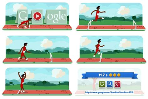 doodle olympics play how to play 2012 hurdles doodle news18