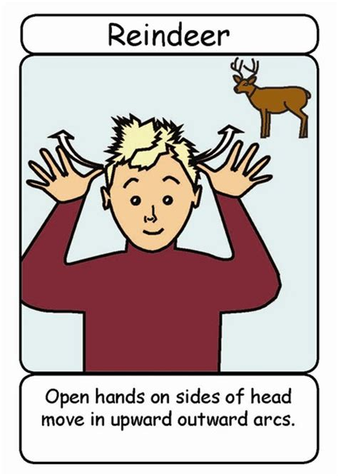 bsl christmas signs flashcards