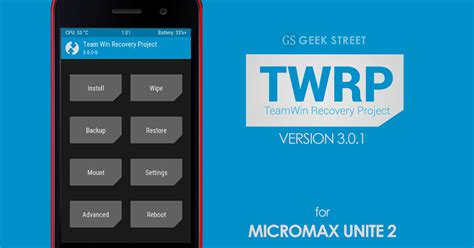 twrp apk twrp version 3 recovery for kitkat lollipop micromax unite 2 apk mod