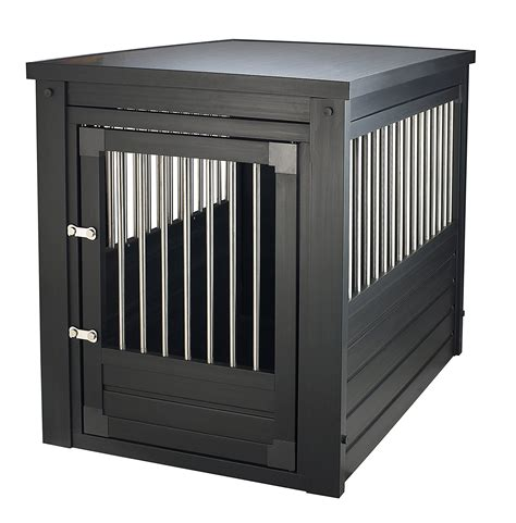 large dog kennel end table large dog crate pet end table 2 latch espresso kennel dog