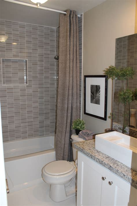 Superb Bathroom Sink Material Comparison #4: Affordable-beige-small-bathroom-tile-shower-ideas-with-black-interior-gray-marble-subway-wall-panelling-bath-excerpt-remodel_bathroom-tile-ideas-for-small-bathrooms_interior-house-design-pi.jpg