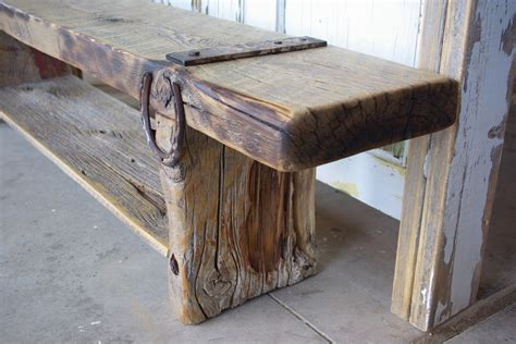 barnwood bench reclaimed rustics vintage door headboard