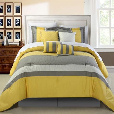 yellow and white chevron comforter bedroom wonderful bedroom decor by using gray and yellow