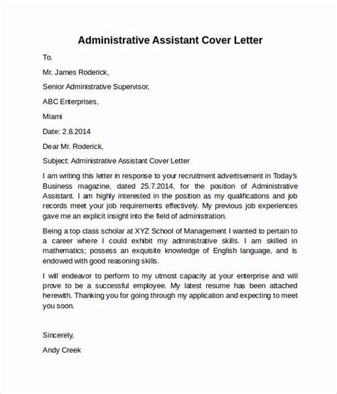 cover letter executive assistant awesome