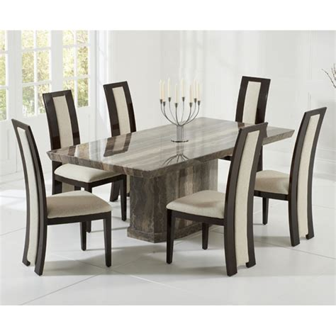 Brown Marble Dining Table Harris Como Brown Marble 200cm Dining Table With Rivilino Chairs Harris From