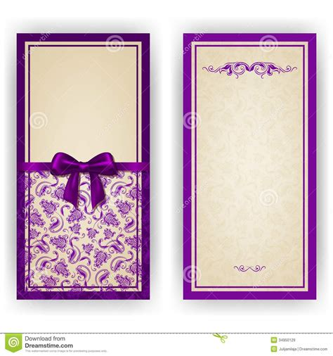 elegant vector template for luxury invitation royalty