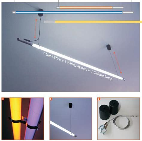 ceiling hanging fluorescent system