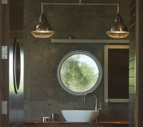 Porthole Windows Bathroom Decorating Last Stop Repurposed Locomotive Ranch Trailer House In