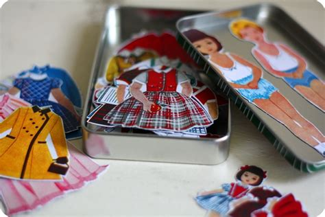How To Make Magnetic Paper Dolls - grosgrain free pattern month day 3 one pearl button