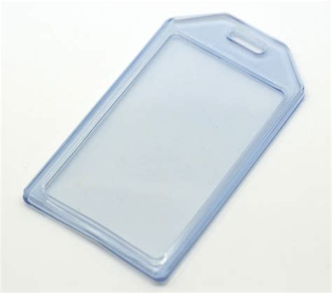 Id Card Holder Id Card Cover Id Card Kulit Id Card Name Tag 288 5pcs blue vertical plastic id card badge waterproof holder
