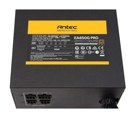 Dijamin Antec Ea Gold Pro 650w Ea650g Pro 80 Gold Modular earthwatts gold pro antec pr 228 sentiert eine neue