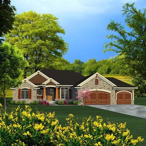 Ranch Style Home Plans With 3 Car Garage by Best 25 3 Car Garage Ideas On