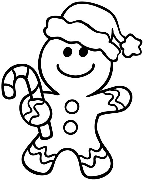 gingerbread man coloring pages    print