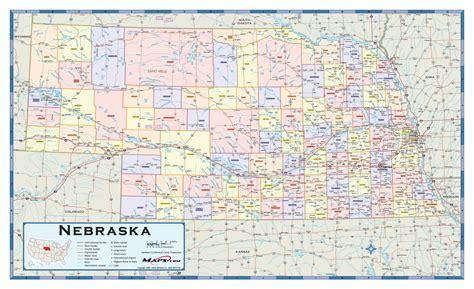 ne county nebraska counties wall map maps