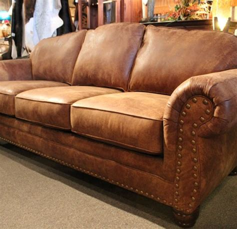 Rustic Leather Sofas Rustic Leather Sofa Roselawnlutheran