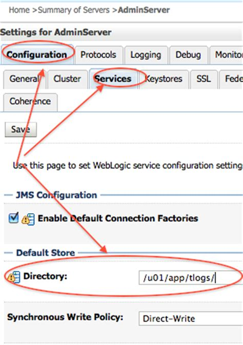 oracle weblogic server 12c administration i 1z0 133 a comprehensive certification guide books 1z0 133 configure weblogic server default store for tlogs