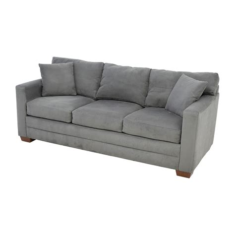 micro suede couches couch enchanting grey suede couch used jensen lewis dark