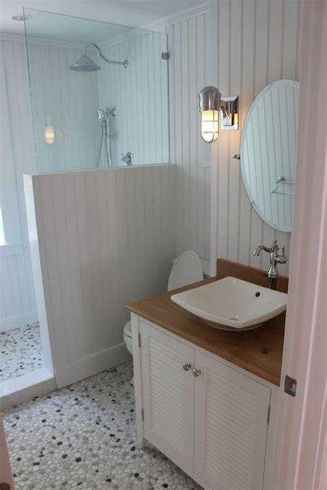 bathroom floor beading the first floor bath has nantucket beadboard made of pvc